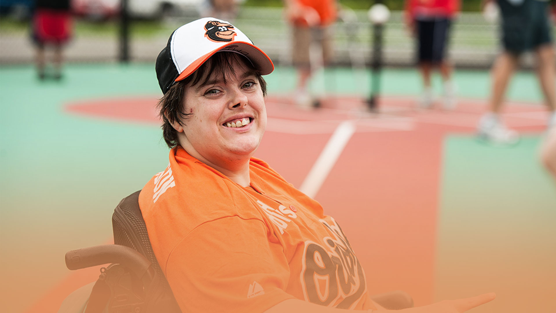 Miracle League Baseball Player on Field
