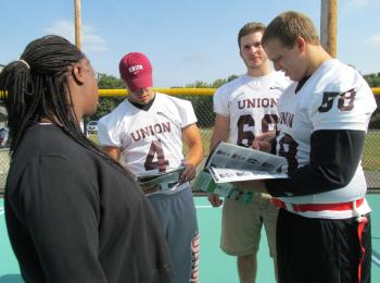 Union players reading