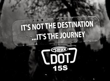 it's not the destination, it's the journey